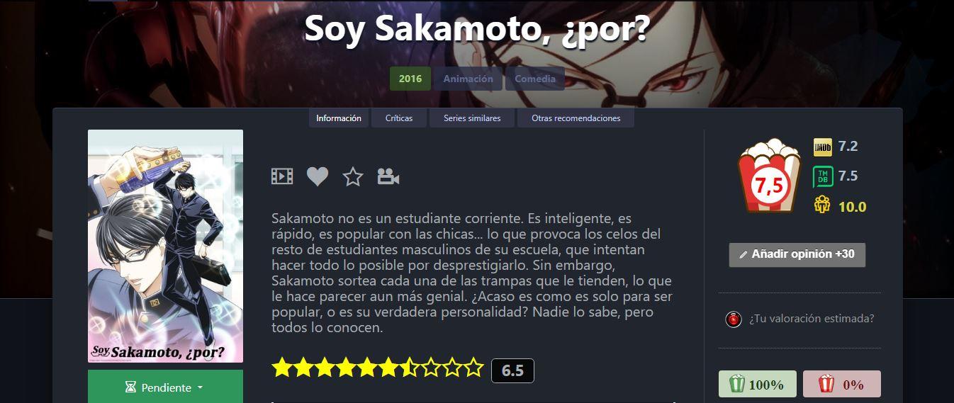 Soy Sakamoto ¿Por? llegará doblado a Jonu Play