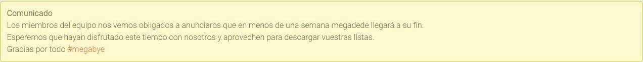 Confirmado de que Megadede nos dice Megabye