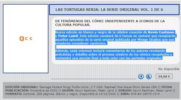 ECC Ediciones traerá a España los cómics de las tortugas ninja